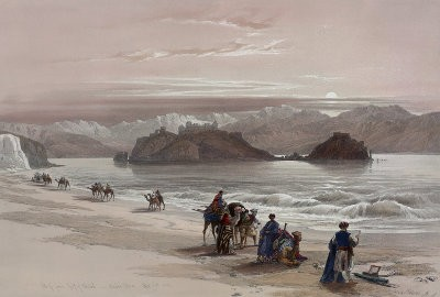 Tavlan 'Isle of Graia Gulf of Akabah Arabia Petraea' av David Roberts,