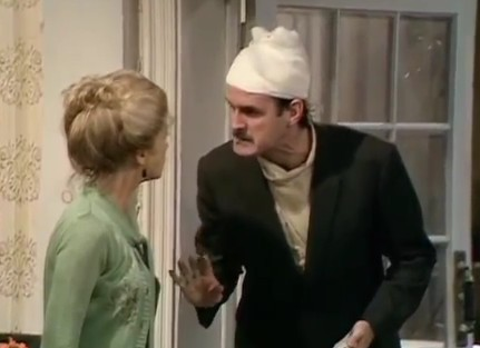 "Still from ""The Germans"", season 1, episode 6 of Fawlty Towers"